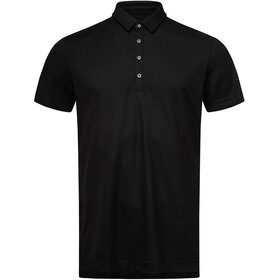 super.natural Piquet Polo Men jet black